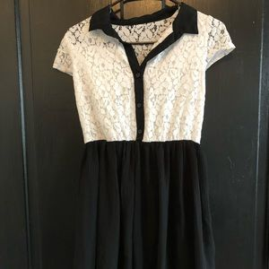 Any byer black and white dress